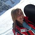 Cheryl on the slope